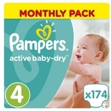 Подгузники Pampers Active Baby-Dry Maxi 4 (8-14 кг), 174 шт.
