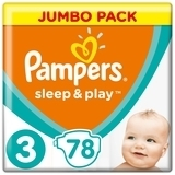 Подгузники Pampers Sleep&Play Midi 3 (6-10 кг), 78 шт. - Pampik