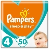 Подгузники Pampers Sleep&Play Maxi 4 (9-14 кг), 50 шт. - Pampik
