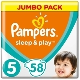 Подгузники Pampers Sleep&Play 5 (Junior) 11-16 кг, 58 шт. - Pampik
