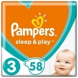 Подгузники Pampers Sleep&Play Размер 3 (Midi) 6-10 кг, 58 шт. - Pampik