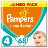 Подгузники Pampers Sleep & Play Размер 4 (Maxi) 9-14 кг, 68 шт. - Pampik