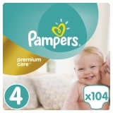 Подгузники Pampers Premium Care Dry Max Maxi 4 (8-14 кг) MEGA PACK, 104 шт.