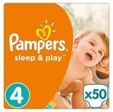 Подгузники Pampers Sleep&Play Maxi 4 (8-14 кг), 50 шт. - Pampik
