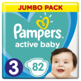 Подгузники Pampers Active Baby 3 (6-10 кг), 82 шт. - Pampik