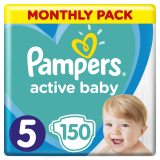 Подгузники Pampers Active Baby 5 (11-16 кг), 150 шт. - Pampik
