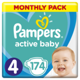 Подгузники Pampers Active Baby 4 (9-14 кг), 174 шт.